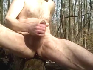 Public Park Outdoor Jerk Off.