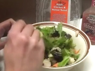 Salad with Raspberry Dressing and Piss
