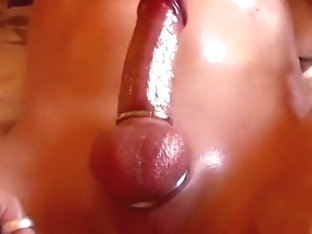 Strapon closeup twitching and cuming compilation