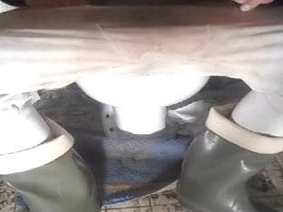 nlboots - toilet green boots