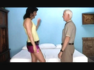 Cute crossdresser banged by mature man