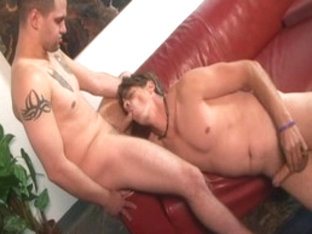 Hottest male pornstars Mark Galfione and Chad Brooks in exotic dilettante, blowjob homosexual porn.