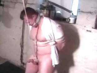 Bound Guy Cums