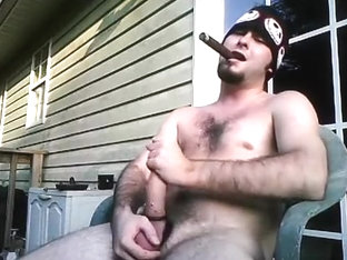 Smoke and Jerk Off with Cigar and Ding-Dong Thong