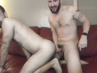 two hairy gay guys have anal sex on cam