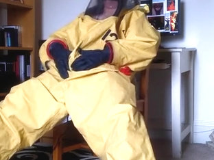 Respirex Level A Gas Constricted Chemical Hazmat Costume Inflate/Wank