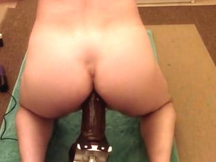 Flash Brown Signature Dildo on Fuck Machine