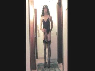 Skinny Transgender Dildoing Hard