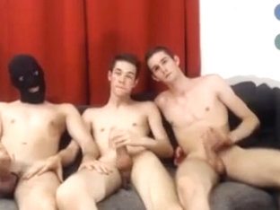 3 French Cute Athletic Boys Fuck And Suck On Cam