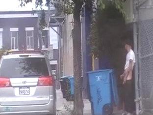 Wank in the street
