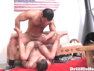 Gay bottom living doll assfucked hard