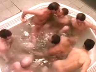Sizzling group fuck in a sauna