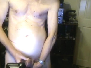 Anal play and cum on webcam