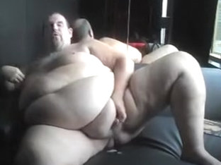 Superchub Fattie jerking off for the boyz, with cum discharged