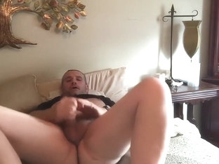 Fingering my ass while Jerking off Part 1