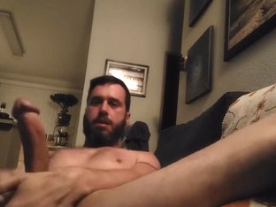 Big dicked daddy stroking