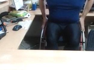 Paraplegic in footed lycra