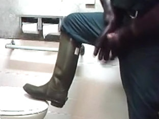 uniform and boots geared Powerliman Jerk off