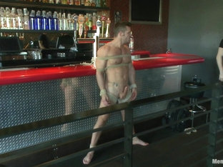 Muscled Bartender Gets Taken Down Bound and Edged