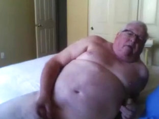 grandpa show his body cam and stroke (no cum)