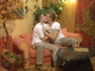 Pretty twinks enjoy passionate gay sex