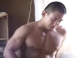 Exotic male in amazing handjob, sports homo sex movie