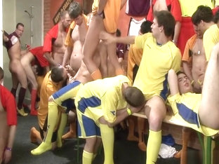 11-12 9 Soccer Teams -- Celebration Orgy