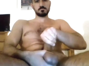 Gorgeous Str8 Arab German with BigCock cums on cam # 207