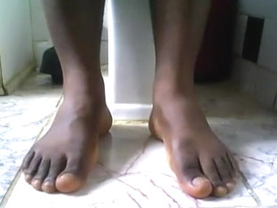 Darksome thug juicy feet