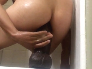 Big dildo shower