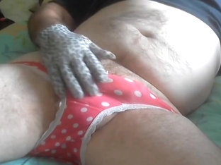 Panties an glove wank