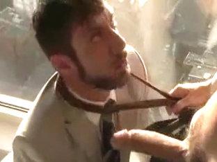 Horny male in incredible uniform homosexual sex clip