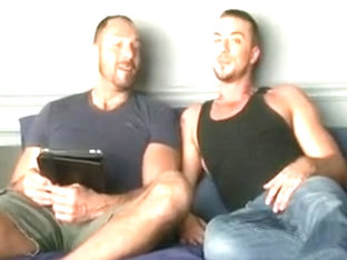 Hot and horny gay couple have anal sex.