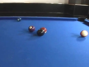 Pool table threesome