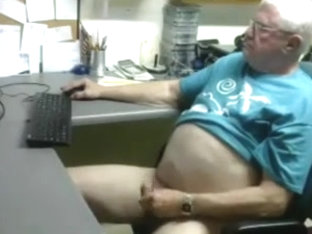 Grandpa cum on cam 1