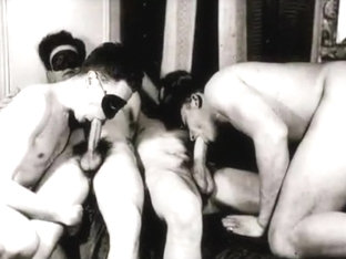 Crazy male in fabulous amature, vintage homosexual porn clip