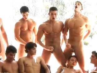Exotic male in horny cum shots, group sex gay adult clip