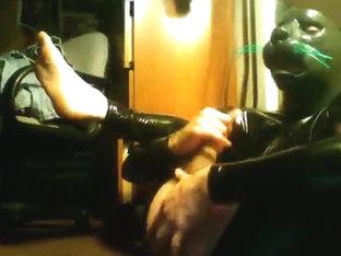 Rubberkitten(rare) Selfsuck - Feline Mask/Hood - Vers 2