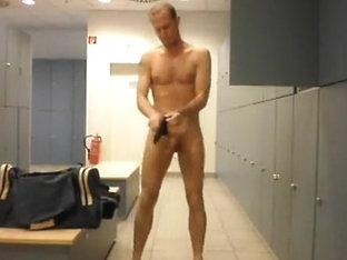 in changing room