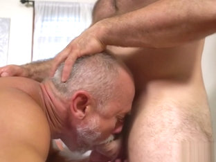 Old gay with cock rings gets happy ending massage