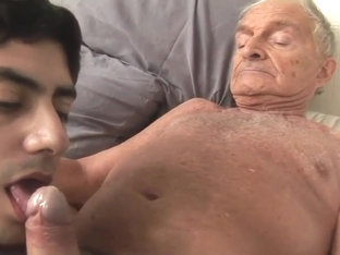 Grandpa fucks young guy