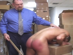 Boss Spanks Lazy Worker