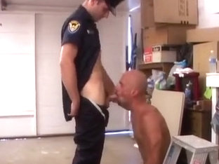 Cop fucks asshole in garage
