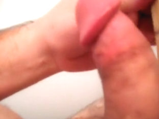 Quick jerk off with up close load.
