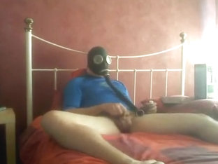 Gas Mask and Poppers Jerk Off