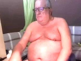 sexy grandpa show his body no cum