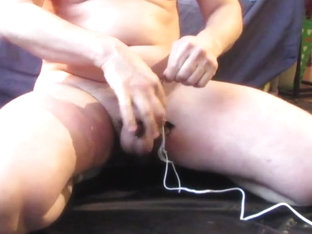 Cum after anal training a estim cumshot