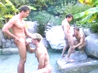 Hottest male pornstars Alec Powers and Matthew Anders in crazy hunks, blowjob homo adult clip