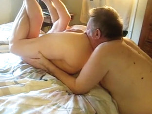 Ass licking from two mature guys