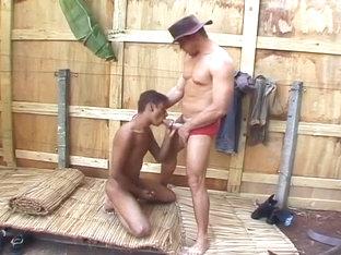 Brazilian Gay Hottie Fucking at Farm